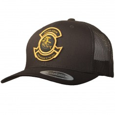 Salty Crew Tuna Bomber Retro Trucker Hat - Black