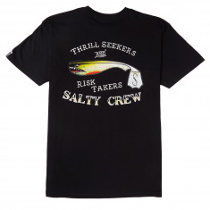 Salty Crew Hopper Bomber T-Shirt - Black