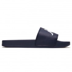 Kappa Authentic Adam 2 Slides - Navy/White