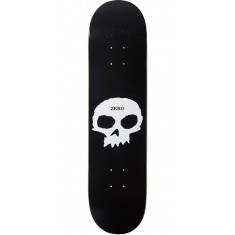 Zero Single Skull R7 Skateboard Deck - Black/White - 7.75