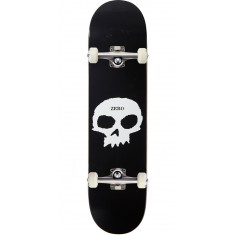Zero Single Skull R7 Skateboard Complete - Black/White - 7.75