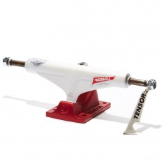 Tensor Alum Reg Mini Flick Skateboard Truck - White/Red