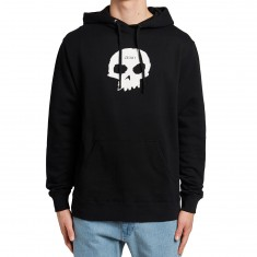 Zero Single Skull Pullover Hoodie - Black