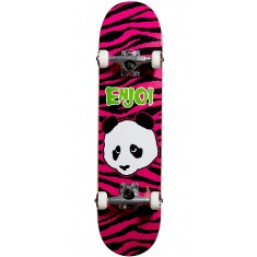 Enjoi Zebra Punk Youth Skateboard Complete - Pink - 7.375