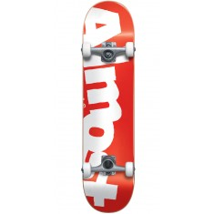 Almost Side Pipe Skateboard Complete - Red - 7.875