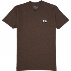 Enjoi Skateboards Small Panda Logo T-Shirt - Espresso