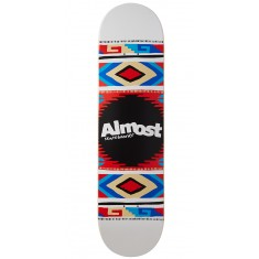 Almost Aztec Blanket Hybrid Skateboard Deck - White - 8.0