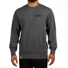 Enjoi Pouch Crew Sweatshirt - Charcoal Heather
