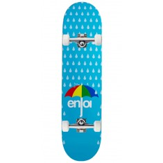 Enjoi Raining Panda Hybrid Skateboard Complete - Light Blue - 7.75