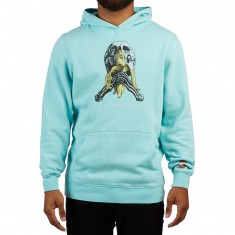Blind Gonz Skull and Bandana Hoodie - Vintage Teal