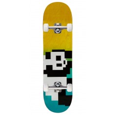 Enjoi 8 Bit Panda R7 Skateboard Complete - Blue/Yellow - 8.375""