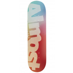 """Almost Side Pipe Blurry HYB Skateboard Deck - Teal/Cardinal - 8.25"""""""