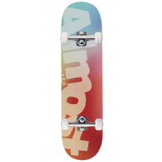 Almost Side Pipe Blurry HYB Skateboard Complete - Teal/Cardinal - 8.25""
