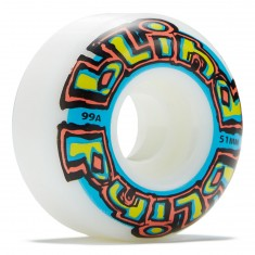 Blind OG Stretch Skateboard Wheels - White/Blue - 51mm