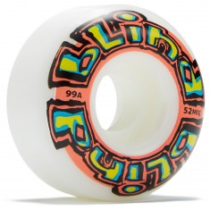 Blind OG Stretch Skateboard Wheels - White/Red - 52mm