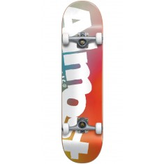 Almost Side Pipe FP Skateboard Complete - White/Red - 7.625""