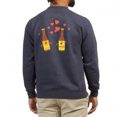 Enjoi Smitten Beer Crew Sweatshirt - Navy/Heather
