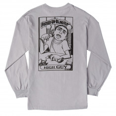 Blind High Guy Ouline Long Sleeve T-Shirt - Silver