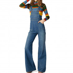 Stoned Immaculate Womens Country Jo 70'S Overalls Pants - Filmore