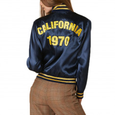 Stoned Immaculate Womens Cali Bomber Jacket - Navy 4f9284fff