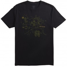 Habitat X Twin Peaks Owl Cave Map T-Shirt - Black