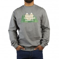 Habitat X Twin Peaks Welcome To Twin Peaks Crewneck Sweatshirt - Grey