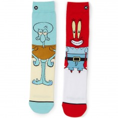 Odd Sox Squidward and Mr. Krabs Socks - Red