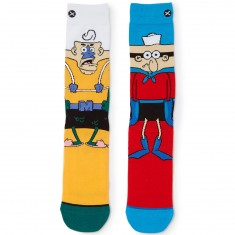 Odd Sox Mermaid Man and Barnacle Boy Socks - Orange