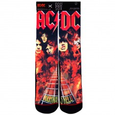 Odd Sox Highway To Hell Socks - Black