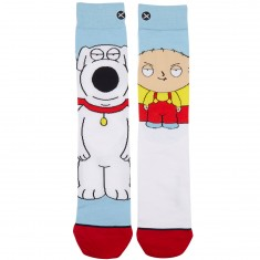 Odd Sox Stewie and Brian Socks - White