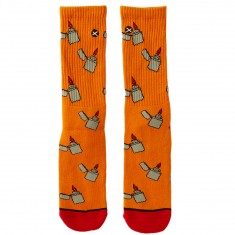 Odd Sox Lit Socks - Orange