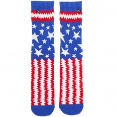 Odd Sox Punk Flag Socks - Red/White/Blue