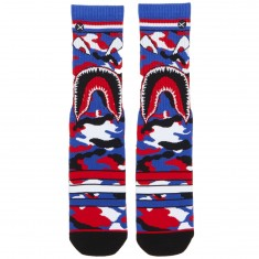 Odd Sox Warplane USA Socks - Red/White/Blue