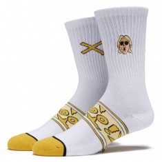 Odd Sox Jet Flyin Socks - White
