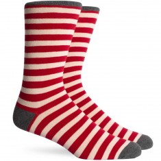 Richer Poorer Theo Socks - Red/Charcoal
