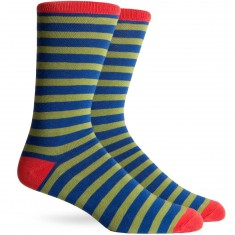 Richer Poorer Theo Socks - Navy/Red