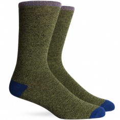 Richer Poorer Tanner Socks - Green/Navy