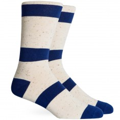 Richer Poorer London Socks - Navy/Cream