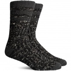 Richer Poorer Stitcher Socks - Black/Charcoal
