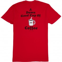 Habitat X Twin Peaks Damn Good Coffee T-Shirt - Red