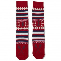 Richer Poorer Hunter Socks - Red