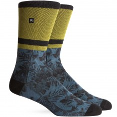 Richer Poorer August Athletic Socks - Teal/Green