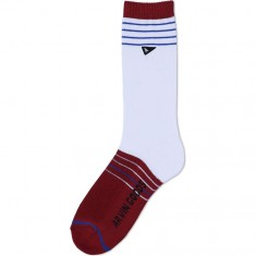 Arvin The Gym Socks - Pomagranite/Blanco