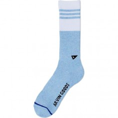 Arvin The Gym Socks - Celeste Melange/Blanco