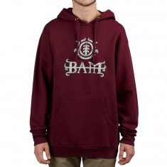 Element Bam Ltd Hoodie - Burgundy