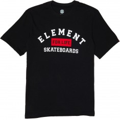 Element For Life Skateboards T-Shirt - Flint Black