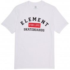 Element For Life Skateboards T-Shirt - Optic White