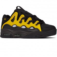 Osiris D3 2001 Shoes - Black/White/Yellow