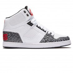 Osiris NYC83 CLK Shoes - White/Red/Elephant