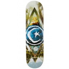 Foundation Star And Moon Geometry Skateboard Deck - 8.125""